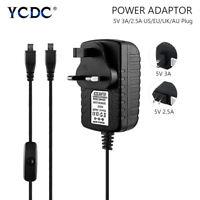Power Supply Adapter For Raspberry Pi 3 Pi 2 5V/3A 5V/2.5A US UK EU AU Plug DC6
