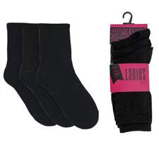 Medias y calcetines de mujer sin marca color principal negro de algodón