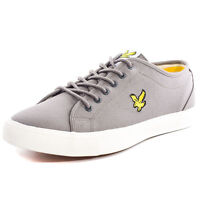 Lyle & Scott Teviot Twill Men's Low-Top Sneakers, Solid Grey 8 UK (42)