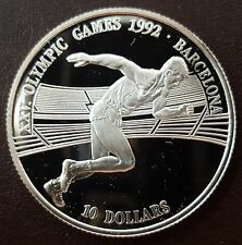"MDS Cook Islands 10 dollars 1990 proof ""los juegos olímpicos de barcelona"", plata #3"