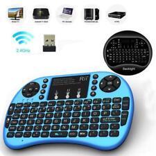 Rii i8+ 2.4Ghz Mini Wireless Keyboard BACKLIGHT for PS4 Kodi Raspberry PI, blue