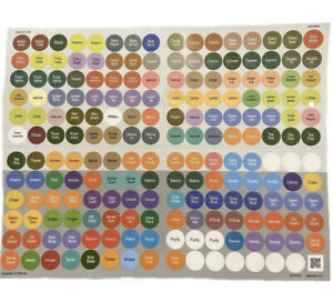 SALE!! Updated DoTERRA Essential Oil Bottle Cap Lid Stickers Full Sheet