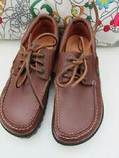 Birkenstock Para Hombre/Niños Zapato de cubierta de cuero tostado, tamaño de la UE 36 (UK 4.5) NUEVO