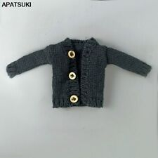 "Black Knitted Woven Coat For 11.5"" Doll Clothes Warm Sweater Outfits Tops 1/6"