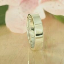925 Solid Sterling Silver ~ 6Mm Flat Wedding Engagement Band Ring Size 12