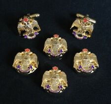 33rd Degree Eagle Button Cover & Cuff Link Set (33EG-BCL)