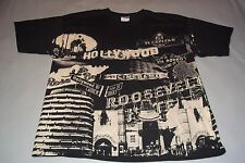 Hollywood Rodeo Dr. Capitol Records Rose Bowl Roosevelt Hotel T-Shirt Mens 2XL