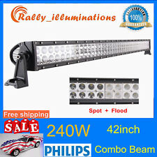 42INCH 240W LED WORK LIGHT BAR SPOT FLOOD FOR JEEP 4X4WD TRACTOR OFFROAD PK 300W