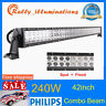42INCH 240W LED WORK LIGHT BAR SPOT FLOOD 4WD TRACTOR OFFROAD BOAT SUV PK 40/44""