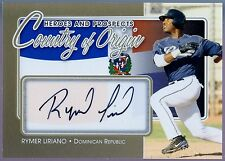 Rymer Liriano 2011 ITG H&P Country of Orgin Gold Auto Card /10 San Diego Padres
