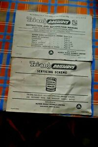 Vintage Triang Railways  instruction and information manual and servicing scheme