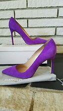 NWT Manolo Blahnik Purple Suede 105mm BB pumps heels size 39.5 US 9 9.5