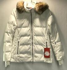 Fera Nicolette Women's Winter Snow Ski Jacket With Faux Fur White Size 14 NEW