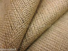 """Natural hessian jute sack fabric SOLD PER METRE 40""""w upholstery or garden use"""