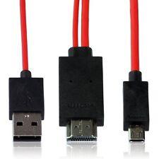 Wicked Chili MHL Kabel 4,0 m für Samsung Galaxy Smartphone / Handy / Tablet