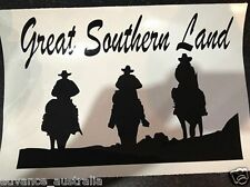 Great Southern Land with Horesback Riders Vinyl Sticker - A169