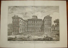 Palazzo Barberini Roma Barbault stampa antica old print etching 1760 montagu
