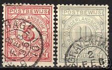 Netherlands 1884 NVPH Postbewijs 6A+7A CANC VF