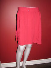 GAP Women's Elastic Waist Button Front Coral Rayon Skirt - Size Medium - NWT