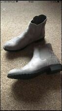 ladies grey boots size 6 With Sparkle Studs Round Heel