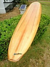 "Beautiful Classic Old School 9'0"" Custom Solid Balsa Wood Surfboard From Ecuador"