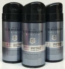 3 Bath & Body Works CO BIGELOW Barber ELIXIR BLACK Deodorizing Body Spray Mist