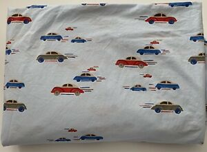 Pottery Barn Kids Outlet Cars Blue Duvet Cover Twin Cotton Vintage Cars