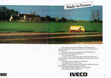 Publicité Advertising 107 1980  Unic   poids Lourds camions Iveco (2p)