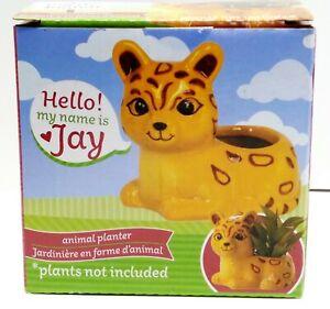JAY JUGUAR Ceramic Animal Planter Pot - Home Table Top or Kitchen Decoration