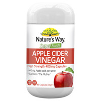 Nature's Way Superfoods Apple Cider Vinegar 60 Capsules ACV 400mg Natures Way