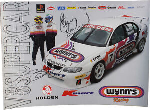Signed Steven Richards / Greg Murphy 1999 Wynn's Racing Poster Holden Commodore
