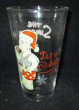 The Simpsons Homer Tis The Season Christmas 16 oz Drinking Glass