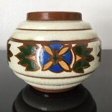 WASMUEL - Vase Art déco Ancien Craquelé Manufacture Auguste Mouzin & Cie