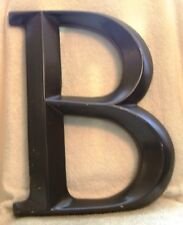 Vintage Large Brown Metal Letter Initial B Wall Hanging 16 Inches Tall
