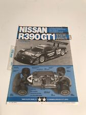Tamiya 1/8 TGX 44007 Nissan R390 GT1 Radio Control instruction Manual