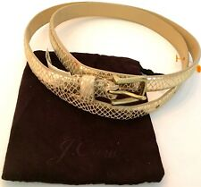 J.Crew Gold Leather Belt M with dust bag