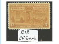 US stamp, Special Delivery, C18, EF - Superb Centering, Mint, VLH, OG, Fresh