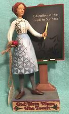2007 JIM SHORE Heartwood Creek God Bless Those Who Teach Teacher Figurine Statue