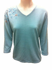 Women's 3/4 Sleeve V Neck None Waist Length Jumpers & Cardigans