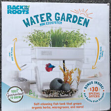 Water Garden BACK TO THE ROOTS- New- Tabletop Self Cleaning Fish Tank Plants