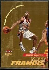 Steve Francis 2000-01 Gold Medallion Ultra Basketball Card #39G Houston Rockets