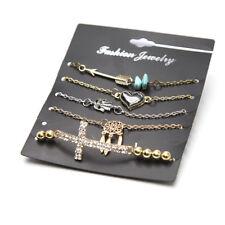 5 Pcs/set Women Hand of Fatima Dream Catcher Cross Bracelet Jewelry Gift Fashion