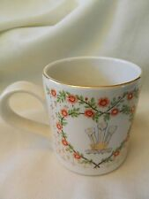 1981 NATIONAL RUST BONCATH POTTERY MUG COMMERATING PRINCESS DIANA WEDDING