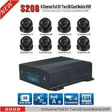 8 Ch Dual SD Cards Car DVR & H.264 Vehicel Video Recorder DVR Camera + GPS 3G