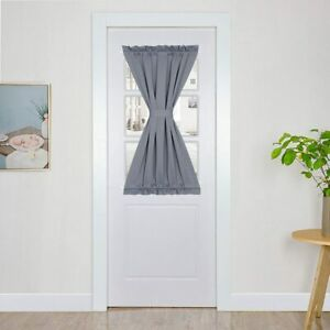Panovous Grey French Door Curtains for Small Windows Elegant Window Sidelight