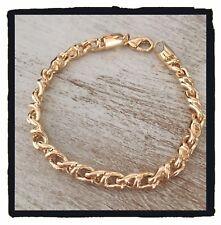 Bracelet Maille fantaisie entrelacée Plaqué Or 18 carats NEUF Bijoux Femme