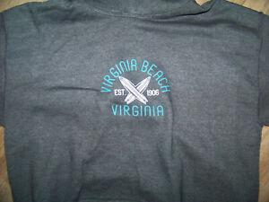 Virginia Beach Gildan Gray Heavy Blend Youth XL Hoodie Sweatshirt