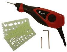 Moss ELETTRICO ENGRAVER Incisione Strumento per legno metallo vetro plastica con stencil