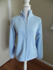 Womens Columbia Fleece Full Zip Jacket Size Medium Baby blue Nice