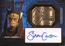 Star Wars Masterwork 2016 Bronze Autograph Medallion Card [10] Silas Carson